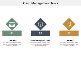 Cash Management Tools Ppt Powerpoint Presentation Infographics Topics Cpb