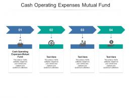 Cash Operating Expenses Mutual Fund Ppt Powerpoint Presentation Styles Introduction Cpb