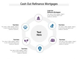 Cash Out Refinance Mortgages Ppt Powerpoint Presentation Visual Aids Outline Cpb