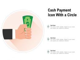 Cash Payment Icon With A Circle