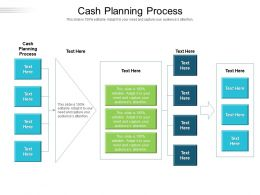 Cash Planning Process Ppt Powerpoint Presentation File Visuals Cpb