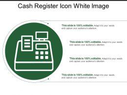 Cash Register Icon White Image