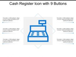 Cash Register Icon With 9 Buttons