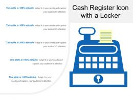 Cash Register Icon With A Locker