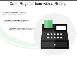 Cash Register Icon With A Receipt