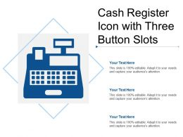 Cash Register Icon With Three Button Slots