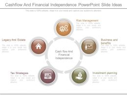 Cashflow And Financial Independence Powerpoint Slide Ideas