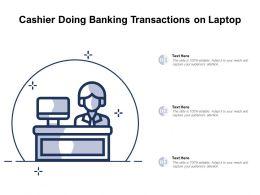 Cashier Doing Banking Transactions On Laptop