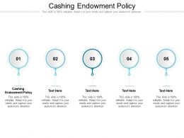 Cashing Endowment Policy Ppt Powerpoint Presentation Infographic Template Cpb