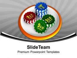 Casino Chip Icon Gambling PowerPoint Templates PPT Themes And Graphics 0213