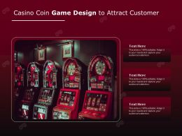 Casino Coin Game Design To Attract Customer