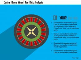 Casino Game Wheel For Risk Analysis Flat Powerpoint Design