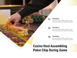 Casino Host Assembling Poker Chip During Game
