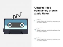 Cassette Tape From Library Used In Music Player