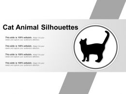 Cat Animal Silhouettes Good Ppt Example