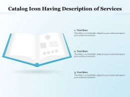 Catalog Icon Having Description Of Services