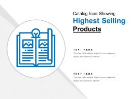 Catalog Icon Showing Highest Selling Products