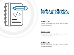 Catalog Icon Showing Pencil Design