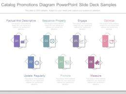 Catalog Promotions Diagram Powerpoint Slide Deck Samples
