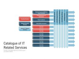Catalogue Of IT Related Services