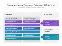 Catalogue Showing Organised Collection Of IT Services