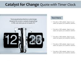 Catalyst For Change Quote With Timer Clock