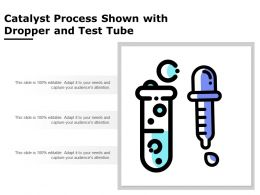Catalyst Process Shown With Dropper And Test Tube