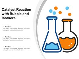 Catalyst Reaction With Bubble And Beakers
