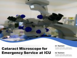Cataract Microscope For Emergency Service At ICU