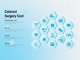 Cataract Surgery Cost Ppt Powerpoint Presentation Summary Graphic Tips