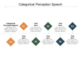 Categorical Perception Speech Ppt Powerpoint Presentation Show Examples Cpb