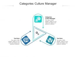 Categories Culture Manager Ppt Powerpoint Presentation Show Objects Cpb
