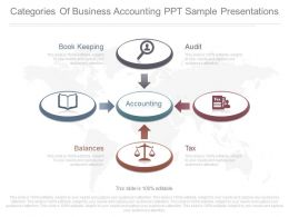 Categories Of Business Accounting Ppt Sample Presentations