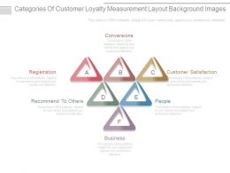 Categories Of Customer Loyalty Measurement Layout Background Images