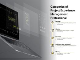 Categories Of Project Experience Management Professional