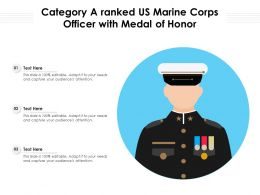 Category A Ranked US Marine Corps Officer With Medal Of Honor