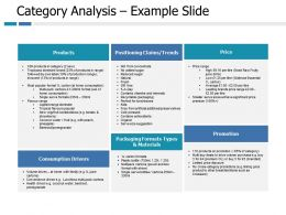 Category Analysis Example Products Ppt Portfolio Slide Portrait