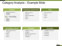 Category Analysis Example Slide Powerpoint Slide Background Picture