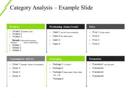 Category Analysis Example Slide Powerpoint Slide Clipart