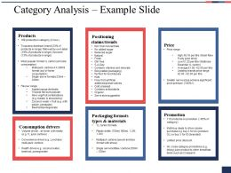 Category Analysis Example Slide Ppt Summary Information