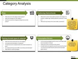 Category Analysis Powerpoint Slide Background Designs