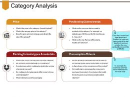 Category Analysis Powerpoint Slides