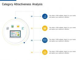 category attractiveness analysis factor strategies for customer targeting ppt summary