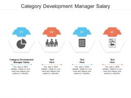 Category Development Manager Salary Ppt Powerpoint Presentation File Images Cpb