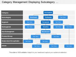 Category Management Displaying Subcategory Segment And Group