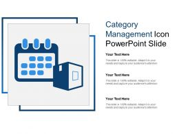 Category Management Icon Powerpoint Slide
