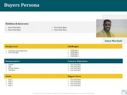 Category Share Buyers Persona Demographics Ppt Powerpoint Sample