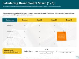 Category Share Calculating Brand Wallet Share Satisfaction Ppt Guide