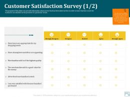 Category Share Customer Satisfaction Survey Merchandise Ppt Design Ideas
