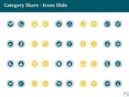 Category Share Icons Slide Ppt Powerpoint Presentation Graphics